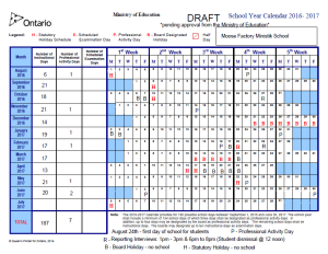 draft 2016 2017 school year calendar