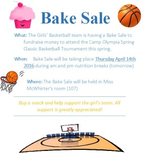basketball bake sale